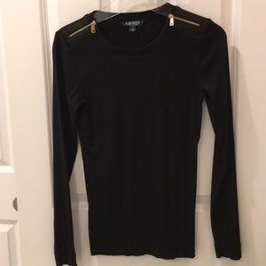 Ralph Lauren black ribbed sweater
